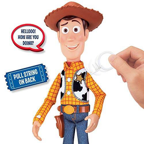 トイストーリー・ウッディ ウォルマート限定 Toy Story 4 Sheriff Woody Deluxe Pull-String Action Figure (Walmart Exclusive) - Zacca store