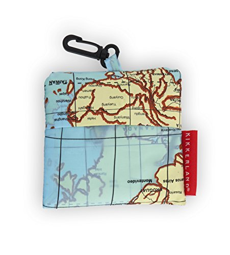 世界地図ランドリーバッグ Kikkerland Travel-Size Laundry Bag, World Map
