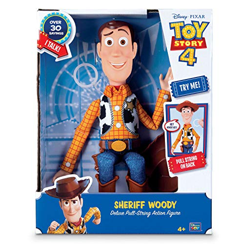 トイストーリー・ウッディ ウォルマート限定 Toy Story 4 Sheriff Woody Deluxe Pull-String Action Figure (Walmart Exclusive)