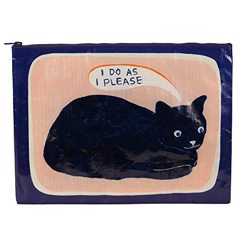 黒猫ポーチ Blue Q Bags, Jumbo Zipper Pouch, I Do as I Pleas - Zacca store
