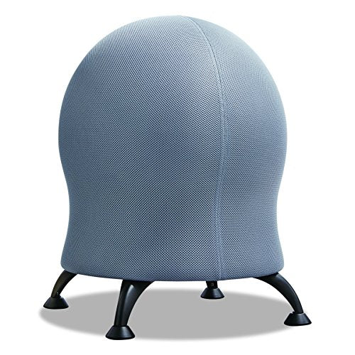 ゼナジー バランスボール チェアー Safco Zenergy Ball Chair , Gray, Low Profile, Active Seating, Steel Legs