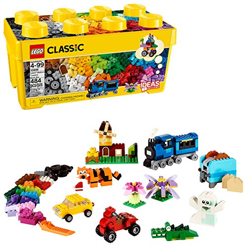 レゴ クラシック ブリックボックス LEGO Classic Medium Creative Brick Box 10696 Building Toys for Creative Play; Kids Creative Kit (484 Pieces)