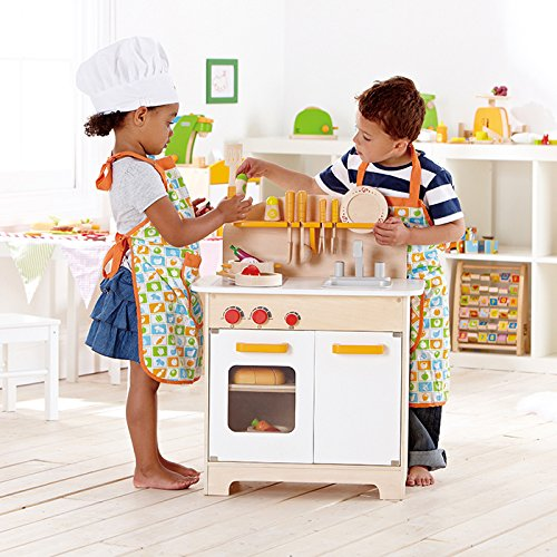 Hape Gourmet Kitchen Kid's Wooden Play Kitchen in White - Zacca store