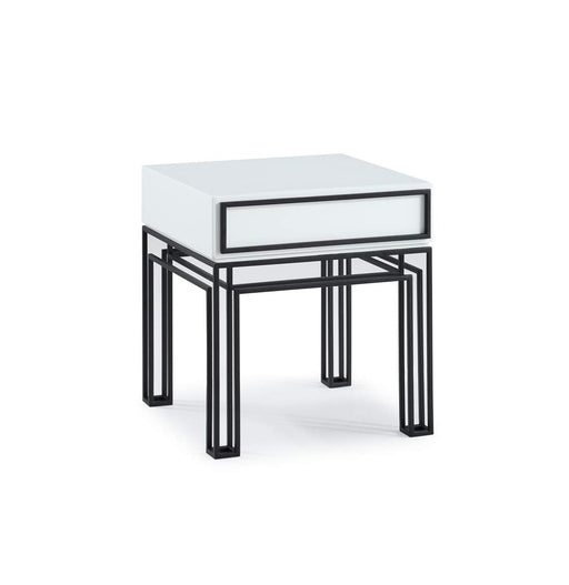ジョナサン・アドラー  エンドテーブル Now House by Jonathan Adler Grid End Table, Black and White