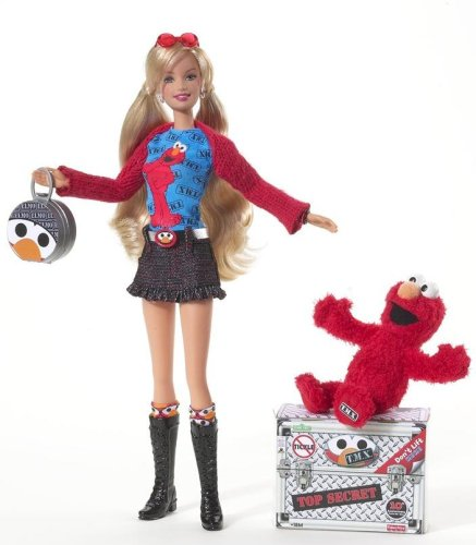 バービー X エルモ Barbie Loves T.M.X. Elmo Doll - Zacca store