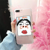 I Am Cool Funny Transparent TPU Soft Case For Iphone X 8 8 Plus 7 7 Plus 6 6s Plus Protective Back Cover Phone Shell - Zacca store