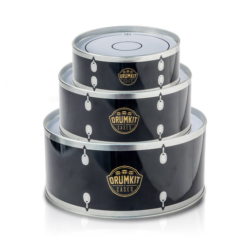 SUCK UK SUCK UK Drumset tins, Black/Ivory