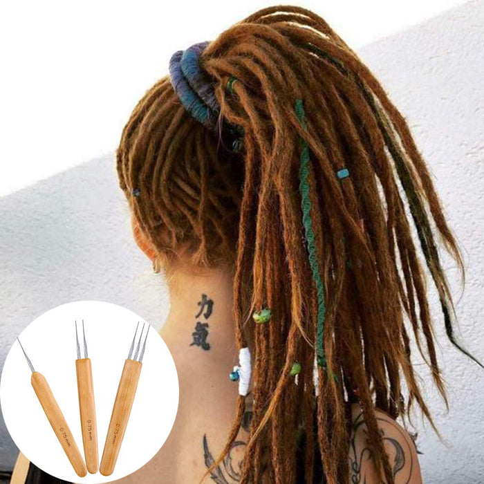AliLeader Crochet Hook Dreads Loc Crochet Needle 3Pcs/Set(1Hook,2Hook,3Hook) 0.75mm Double Crochet Needle for Locs Dreadlock Crochet Hook Dreadlocks Crochet Needle - Zacca store