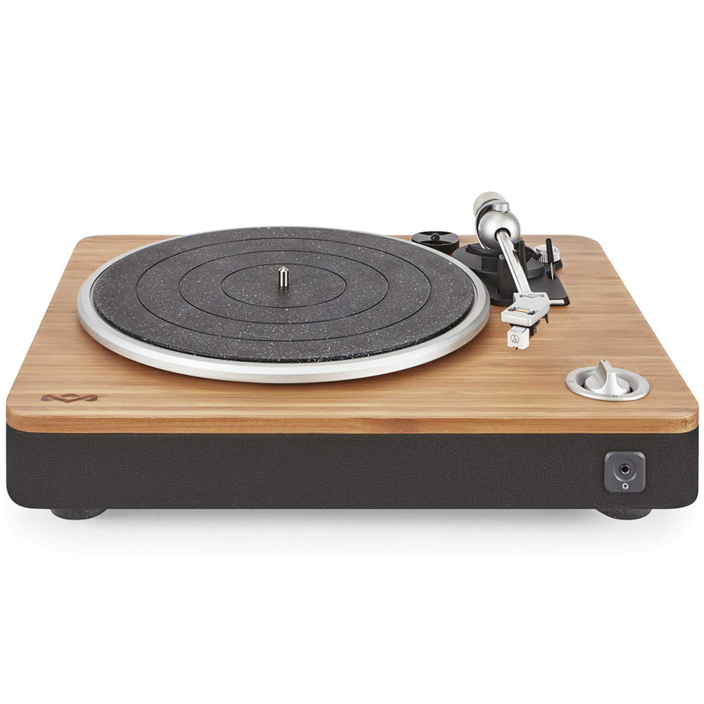 House of Marley, Stir It Up Turntable - 45/33 RPM, USB jack in back for analog to PC recording, Replaceable Cartridge, Bamboo Plinth, EM-JT000-SB Signature Black - Zacca store