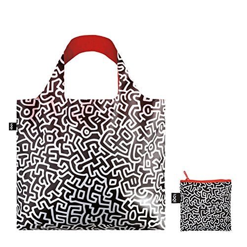 ローキー キース・ヘリング トートバッグ  LOQI Museum Keith Haring Untitled Canvas & Beach Tote Bag, 50 cm, 20 L, Multicolour - Zacca store