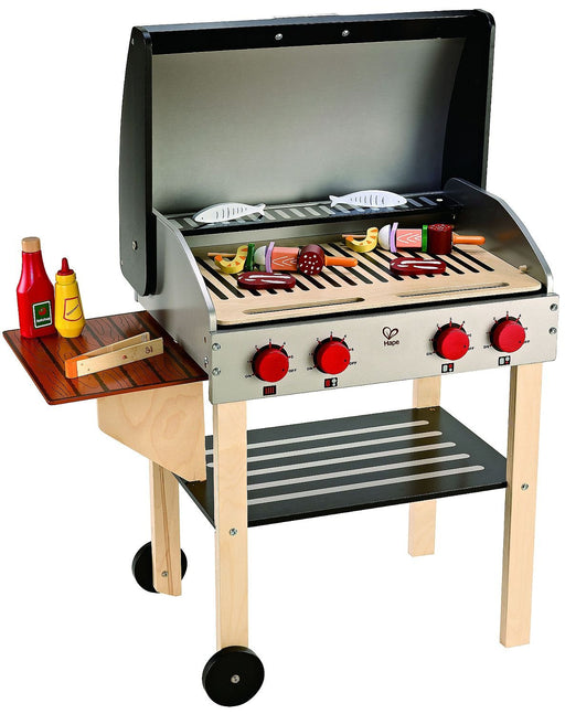 本物そっくりバーベーキュープレイセット Award Winning Hape Gourmet Grill and Shish Kabob Wooden Play Kitchen - Zacca store