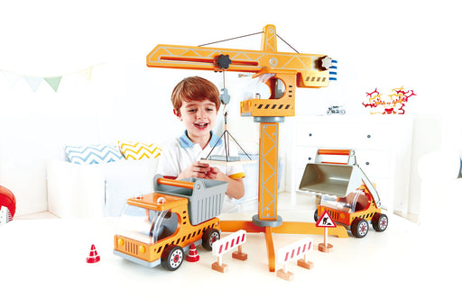 Award Winning Hape Playscapes Crane Lift Playset - Zacca store