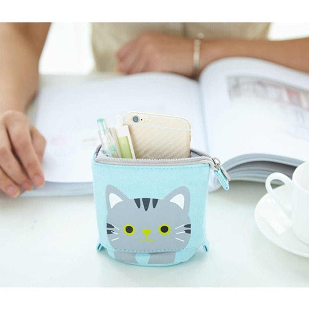 Size adjustable Cat Pen Case Storage Box Makeup Pouch - Zacca store