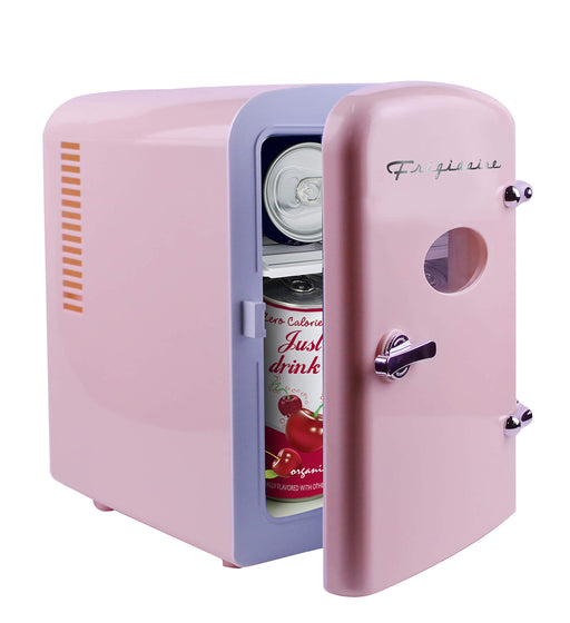 レトロ デスクミニ冷蔵庫 Frigidaire Retro Mini Compact Beverage Refrigerator, Great for keeping office lunch cool! (Pink, 6 Can)