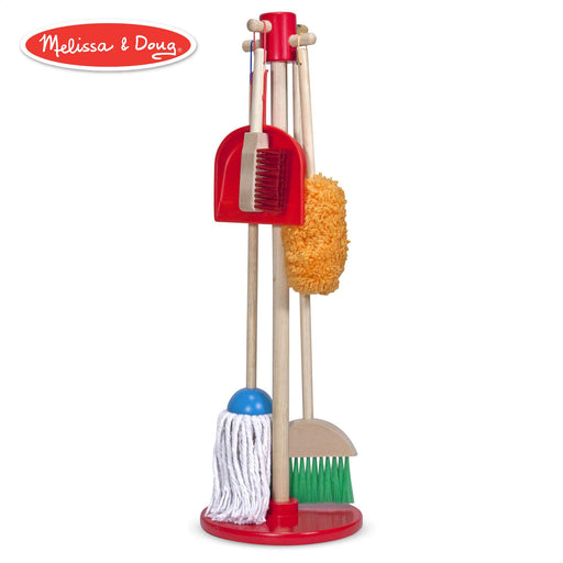 お掃除プレイセット Melissa & Doug, Let's Play House! Dust! Sweep! Mop! Pretend Play Set (