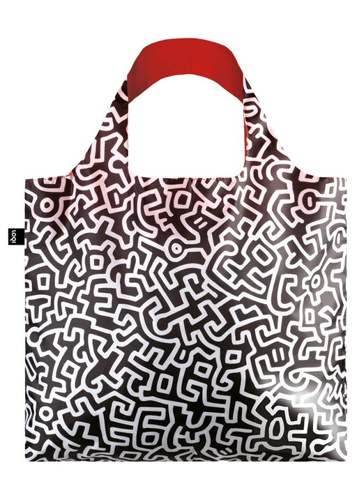 ローキー キース・ヘリング トートバッグ  LOQI Museum Keith Haring Untitled Canvas & Beach Tote Bag, 50 cm, 20 L, Multicolour