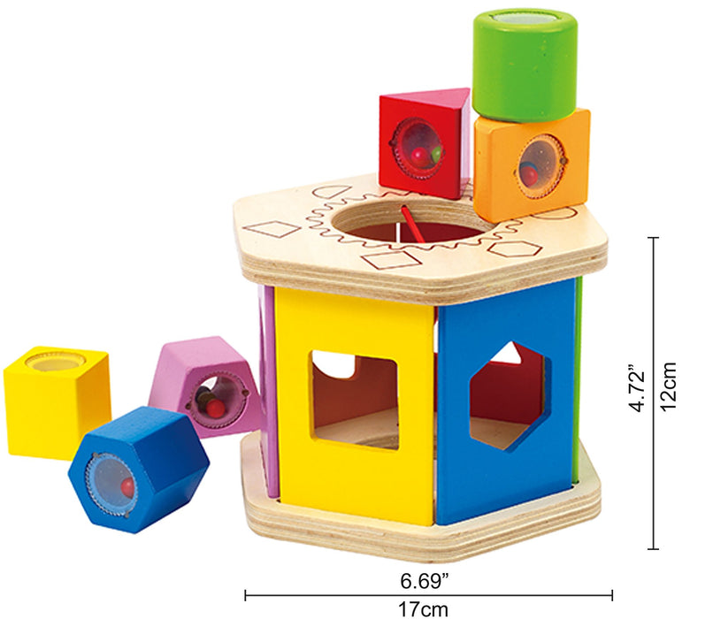 Hape Shake and Match Toddler Wooden Shape Sorter Toy - Zacca store