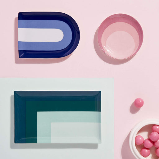 ジョナサン・アドラー  クロマサークルトレイ Now House by Jonathan Adler Chroma Circle Trinket Decorative Tray, Pink - Zacca store