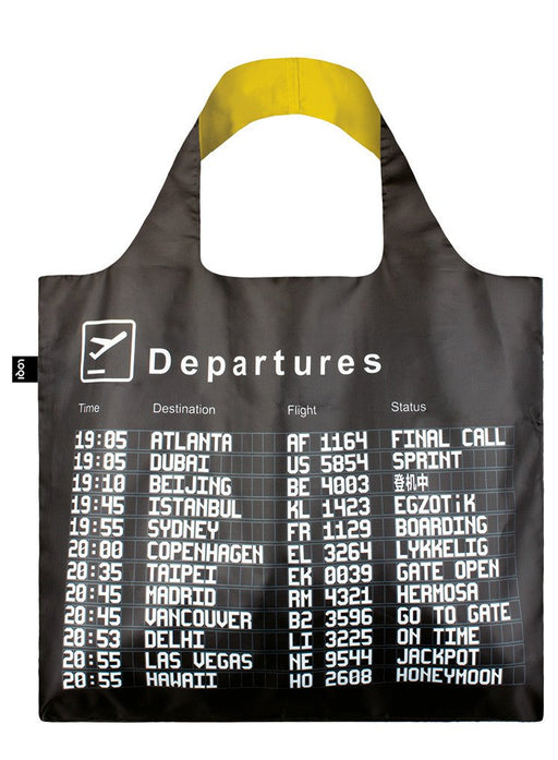ローキー エアポートエコバッグ LOQI AI.AR AIRPORT Reusable Shopping Bag, One Size, Arrivals
