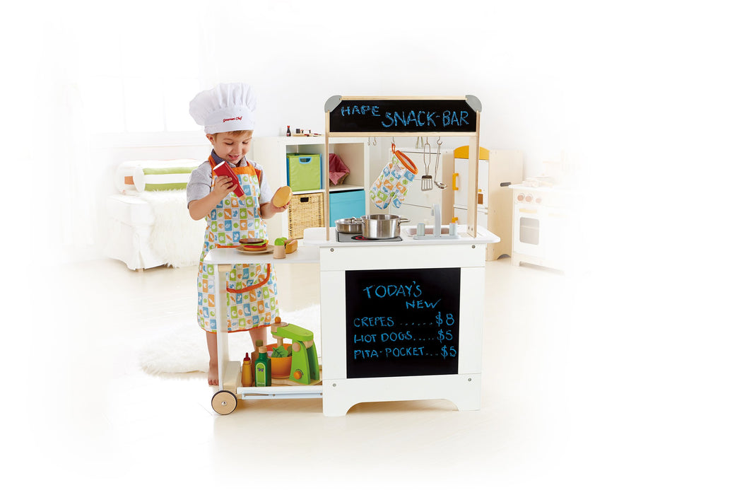 素敵なキッチンプレイセットAward Winning Hape Playfully Delicious Cook 'n Serve Wooden Play Kitchen - Zacca store