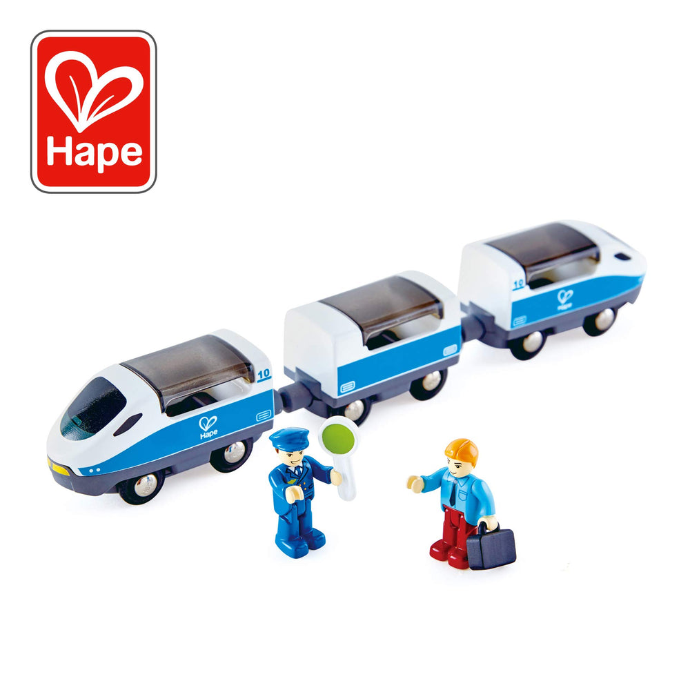 キッズ トレインセット Hape Intercity Train Toy , Kids Train Toy Set with Accessories - Zacca store