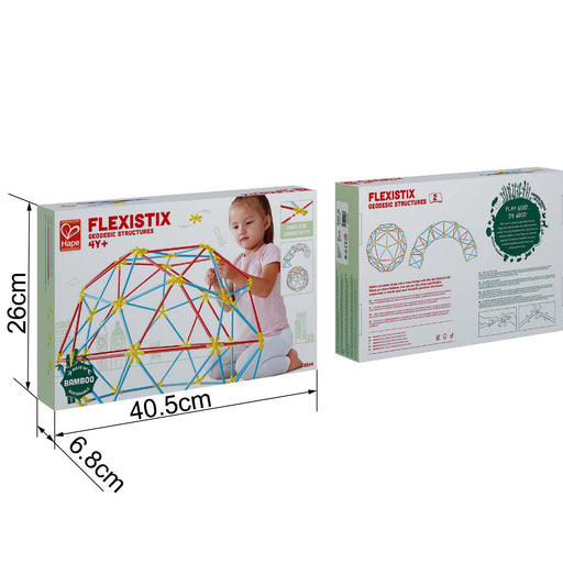 Hape Flexistix STEM Building Geodesic Structures, Featuring 177 Multi-Colored Bamboo Pieces - Zacca store