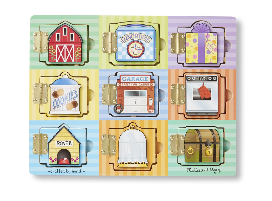 かくれんぼマグネットパズルボード Melissa & Doug Magnetic Hide & Seek Board (Developmental Activity Toy, 9 Pieces) - Zacca store