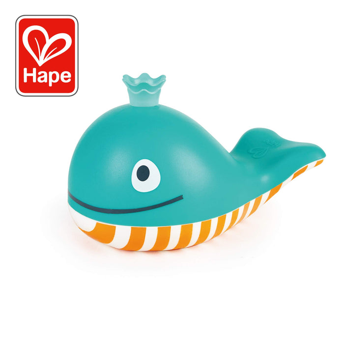 Hape Bubble Blowing Whale | Baby Squirt Toy for Bath Time Play, Blue - Zacca store