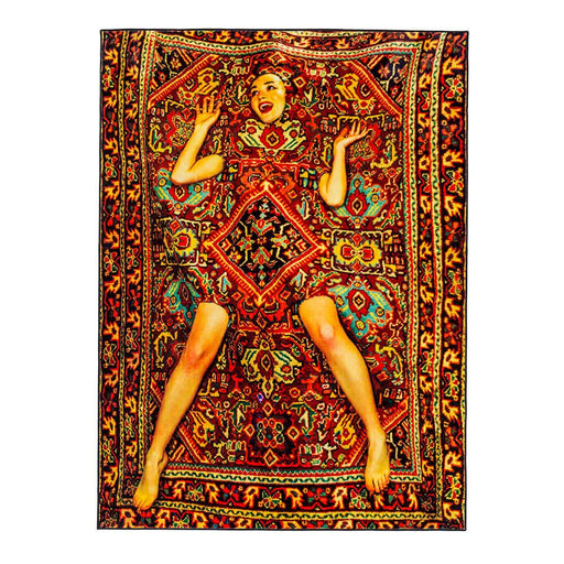 セレッティ Seletti  ラグ・カーペット Seletti Toiletpaper Rectangular Carpet with Woman in The Carpet - Zacca store