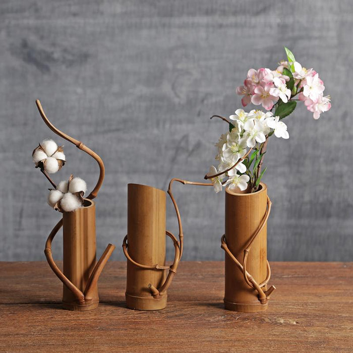 Bamboo Flower Vase Home Decor - Zacca store