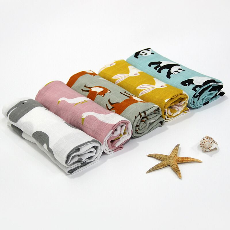Organic Cotton Muslin Baby Animal Bandana (3 pcs/ Set) - Zacca store