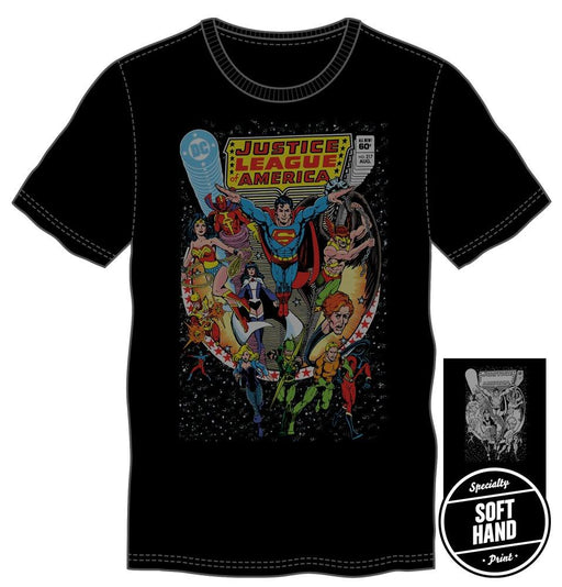 ジャスティスリーグ メンズ T-シャツ DC Comics JLA Justice League of America Men's Black T-Shirt - Zacca store