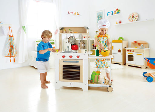 Award Winning Hape Playfully Delicious Cook 'n Serve Wooden Play Kitchen - Zacca store