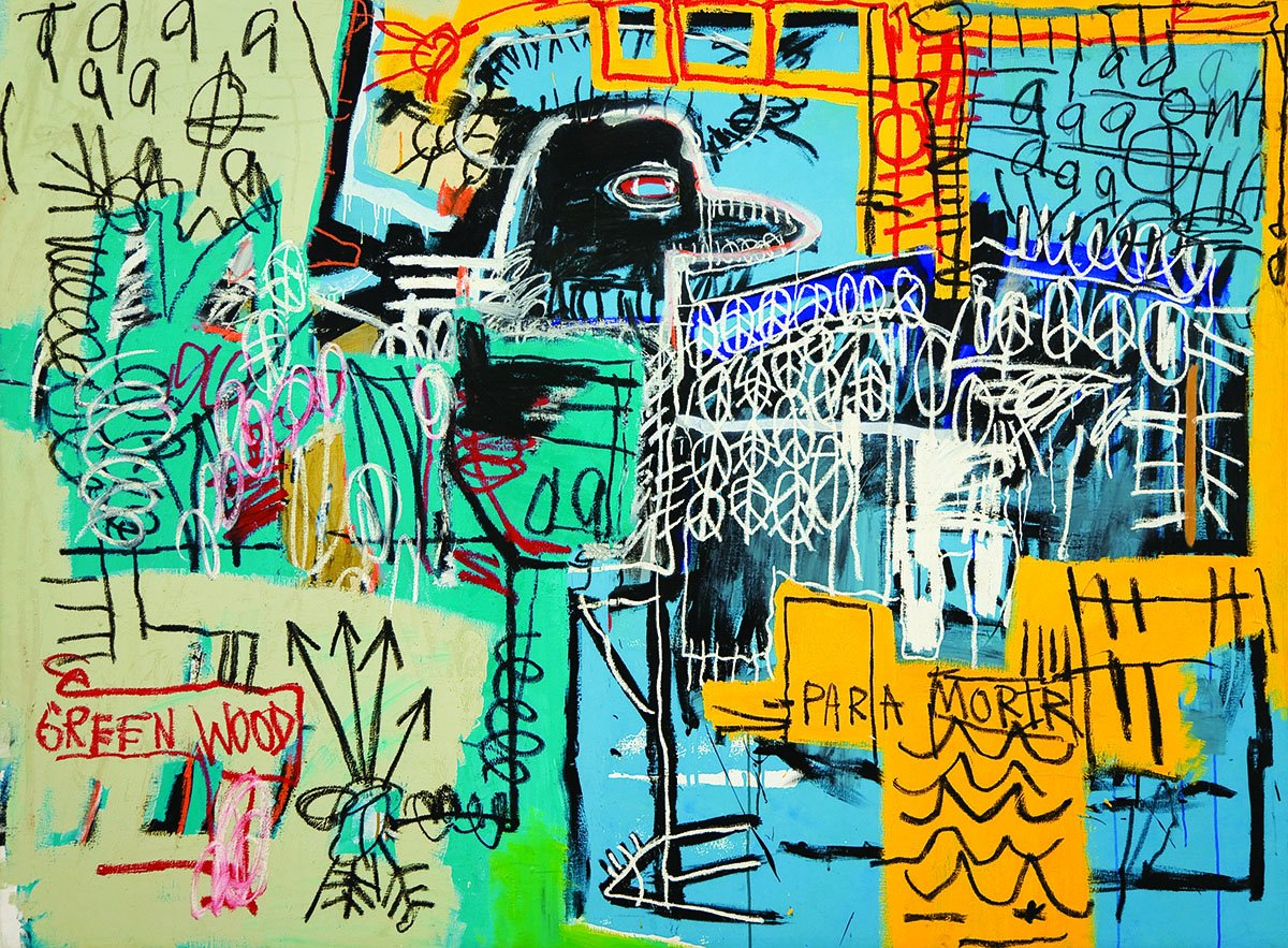 Jean Michel Basquiat Giclee Canvas Print Paintings Poster Reproduction (Bird on Money) - Zacca store
