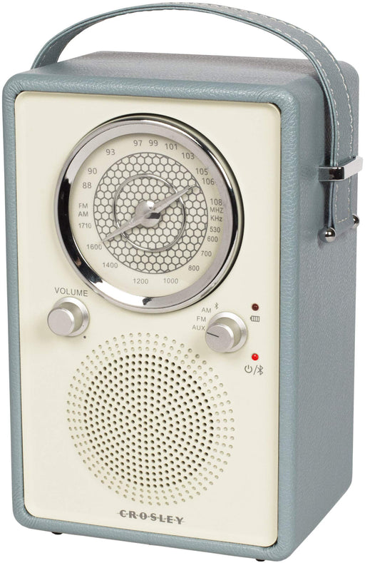 Crosley CR3034A-TN Mockingbird Vintage Portable AM/FM/Bluetooth Radio, Tourmaline - Zacca store
