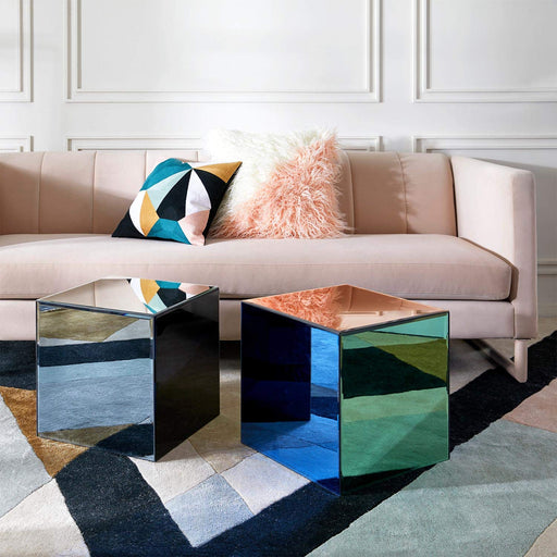 ジョナサン・アドラー  キューブアクセントテーブル Now House by Jonathan Adler Chroma Cube Accent Table, Multicolor
