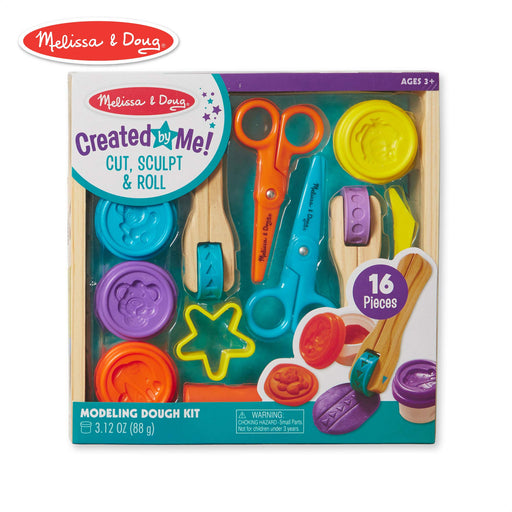 粘土用ツールセット Melissa & Doug Cut, Sculpt, and Roll Clay Play Set With 8 Tools and 4 Colors of Modeling Dough - Zacca store