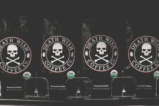 世界一強いコーヒー Death Wish Ground Coffee, The World's Strongest Coffee, Fair Trade and USDA Certified Organic, 16 Ounce - Zacca store