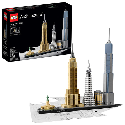 LEGO 建築シリーズ ニューヨーク Architecture New York City 21028, Build It Yourself New York Skyline Model Kit for Adults and Kids (598 Pieces) - Zacca store