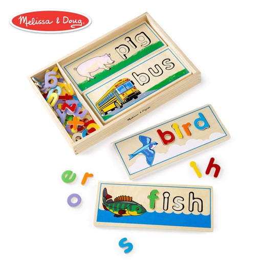 英語スペリングパズル Melissa & Doug See & Spell Learning Toy