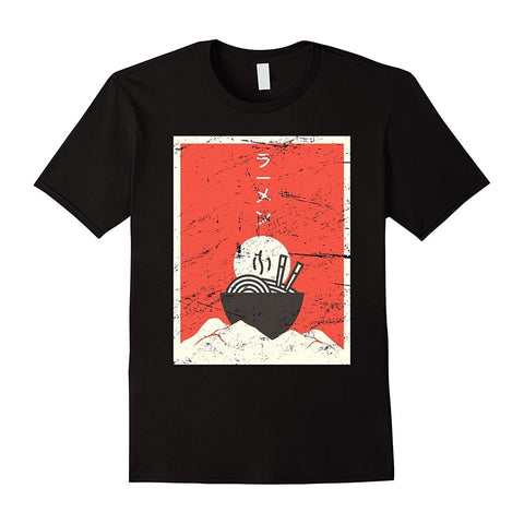 Retro Style Japanese Ramen Anime Men's T-Shirt - Zacca store
