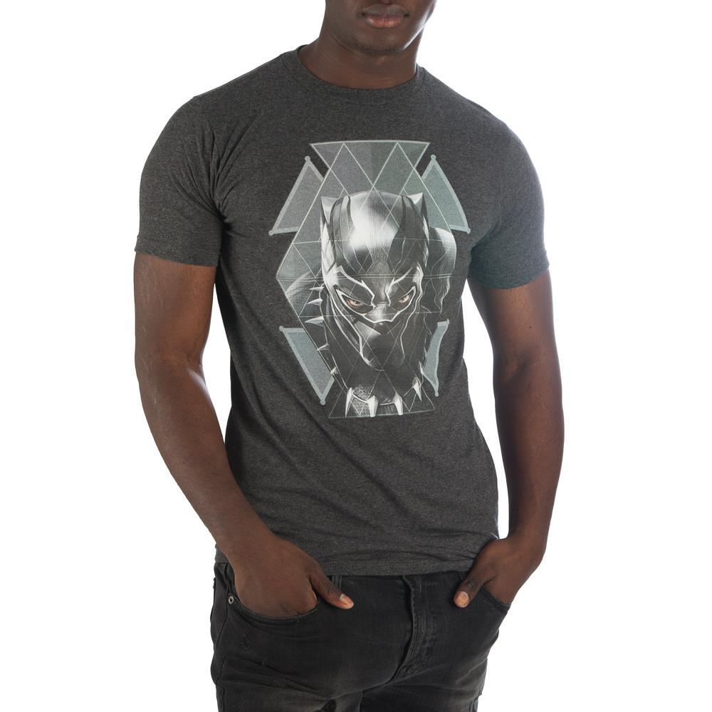 ブラックパンサー メンズ T-シャツ  Black Panther Geometric Face T-shirt - Zacca store