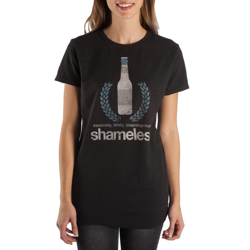 シェイムレス(TV番組) Tシャツ Beer Apparel Shameless Juniors Graphic Tee