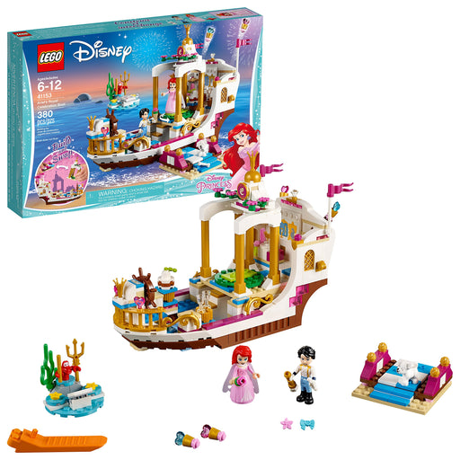 "LEGO アリエル""海の上のパーティ"" Disney Princess Ariel's Royal Celebration Boat 41153 (380 Pieces) - Zacca store"
