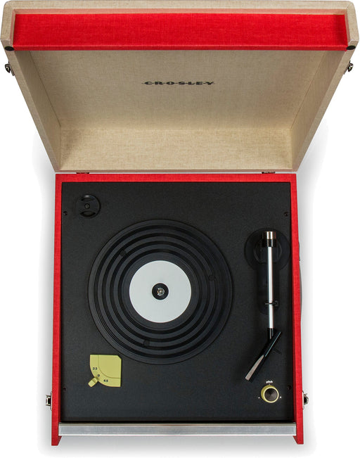Crosley CR6233D-RE Dansette Bermuda Portable Turntable with Aux-in and Bluetooth, Red - Zacca store