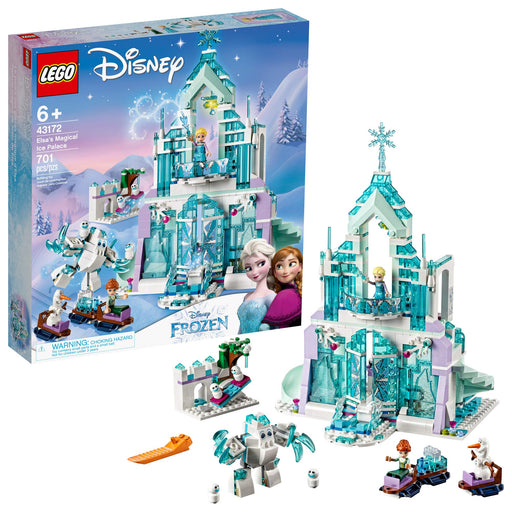 "LEGO アナと雪の女王 ""アイスキャッスル・ファンタジー"" Disney Princess Elsa's Magical Ice Palace 43172 Toy Castle  2019 (701 Pieces) - Zacca store"