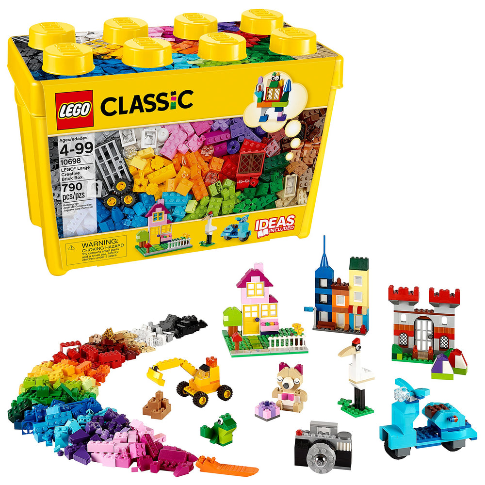 LEGO 黄色のアイデアボックス <スペシャル> Classic Large Creative Brick Box 10698 Build Your Own Creative Toys, Kids Building Kit (790 Pieces) - Zacca store
