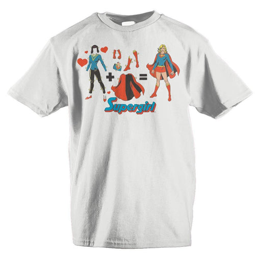 DC Comics Supergirl Outfit Equation Girls T-Shirt - Zacca store