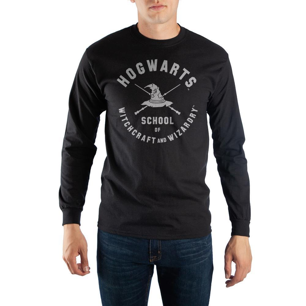 Harry Potter  ハリーポッター 長袖シャツ Hogwarts School Of Witchcraft And Wizardry Men's Long Sleeve Shirt - Zacca store