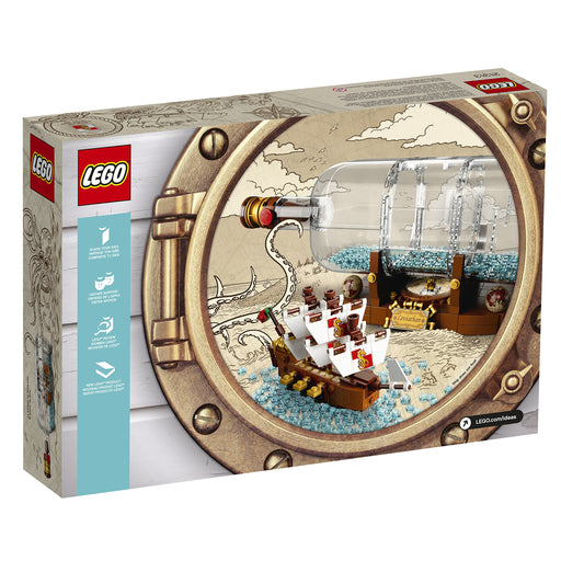 LEGO ボトルシップdeas Ship in a Bottle 21313 Expert Building Kit (962 Pieces) - Zacca store